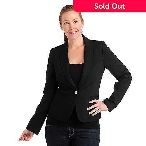 711-061 - Kate & Mallory® Stretch Woven Long Sleeved One-Button Blazer
