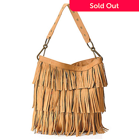 711-080 - Carlos by Carlos Santana ''On the Fringe'' Fringe Detailed Shoulder Bag