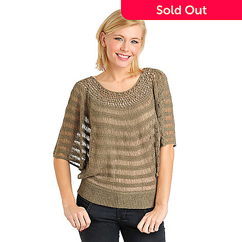 711-104 - Kate & Mallory® Tape Yarn Open Dolman Sleeved Pullover Sweater