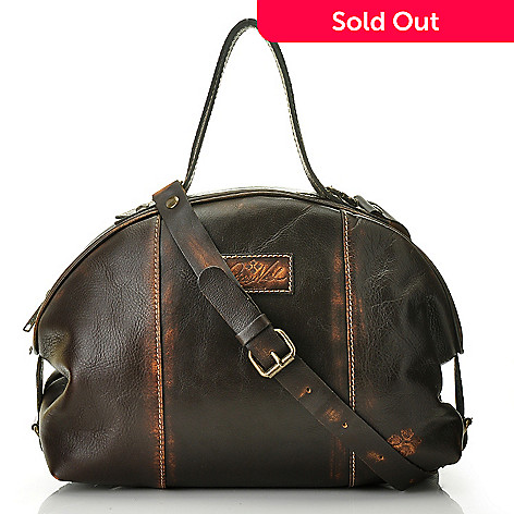 711-257 - Patricia Nash Leather ''Ravi'' Zip Top Satchel