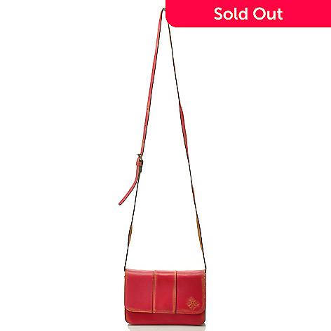 711-260 - Patricia Nash Leather ''Torri'' Clutch w/ Detachable Strap