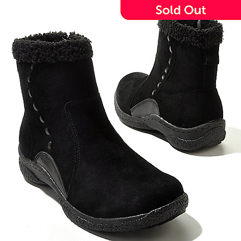 711-291 - Propet Suede Leather ''Roberta'' Short Boots