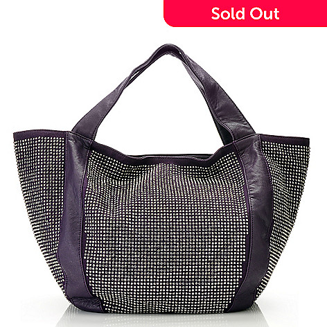 711-393 - LaTique ''Sutton'' Stud Detailed Double Handled Tote Bag