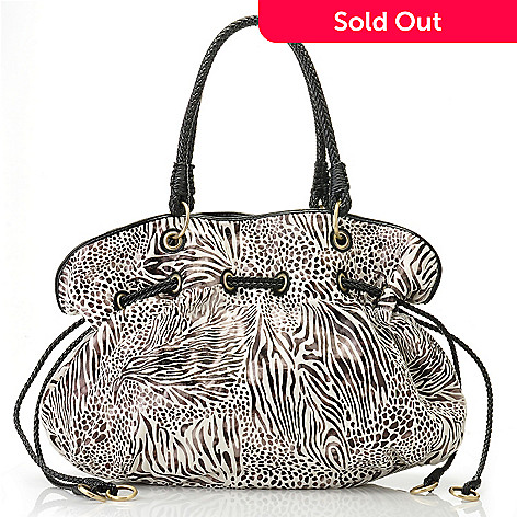 711-395 - LaTique ''Tamaria'' Animal Print Large Tote Bag