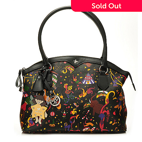711-401 - Piero Guidi Coated Cancas Magic Circus Collection Zip Top Tote Bag