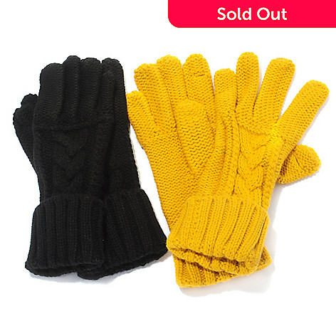 711-436 - Grandoe Set of Two Ladies Knit Texting Gloves