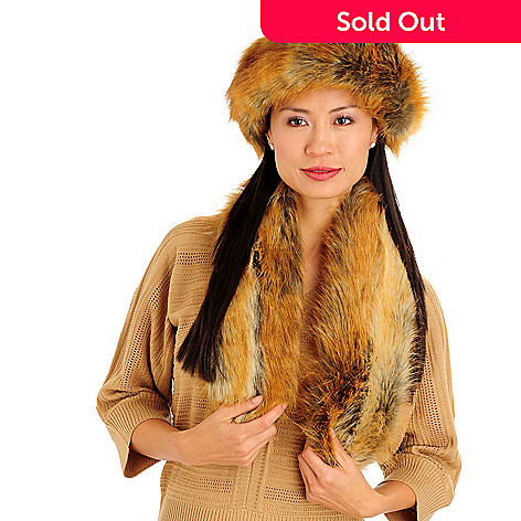 711-437 - Donna Salyers' Fabulous-Furs Halo Headband & Pull-Through Scarf Set