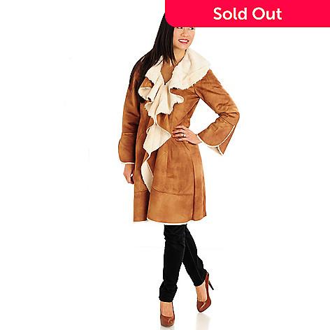 711-439 - Donna Salyers' Fabulous-Furs Ruffled Shearling Faux Fur Coat