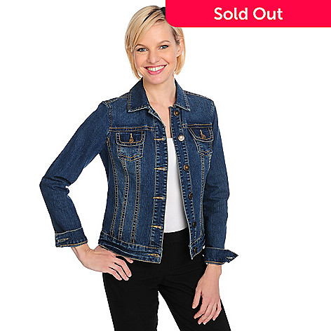 711-576 - OSO Casuals™ Stretch Denim Long Sleeved Button-up Jean Jacket