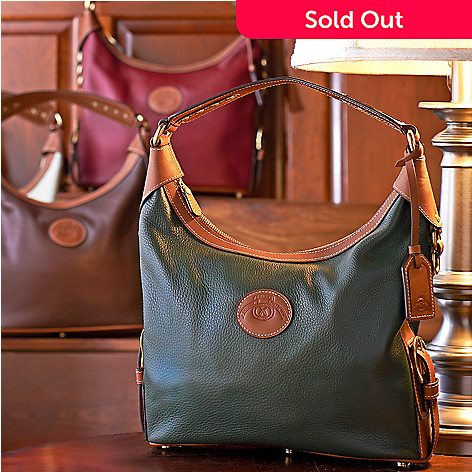 711-789 - ''As Is'' Ghurka Luxury Heritage Collection Calf Leather Hobo Handbag