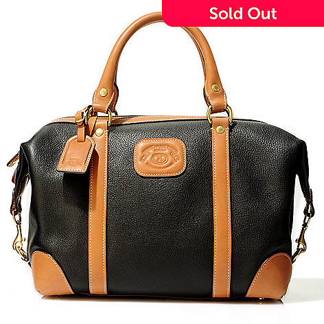 711-800 - Ghurka Luxury Heritage ''Cavalier'' Pebbled Leather Satchel Handbag