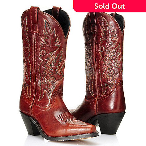711-803 - Laredo® Full-Grain Leather ''Madison'' Snip Toe Western Boots