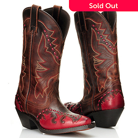 711-806 - Laredo® Leather Two-tone Snip Toe Western Boots