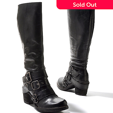 711-823 - Matisse Leather ''Outlawed'' Buckle Detailed Tall Boots