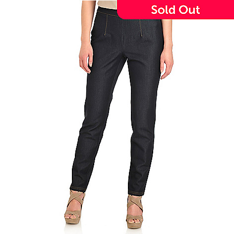 711-921 - Kate & Mallory® Stretch Denim Elastic Back Side Zip Slim Leg Jeggings
