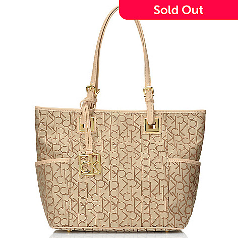 711-927 - Calvin Klein Handbags Logo Jacquard East/West Tote