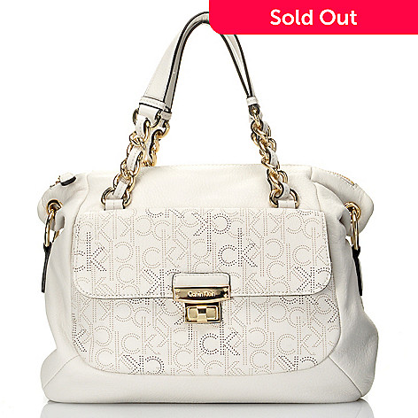 711-931 - Calvin Klein Handbags Perforated Logo Convertible Satchel