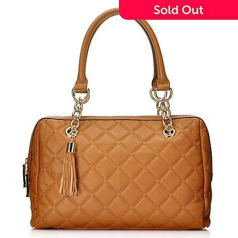 711-934 - Calvin Klein Handbags Quilted Leather Satchel