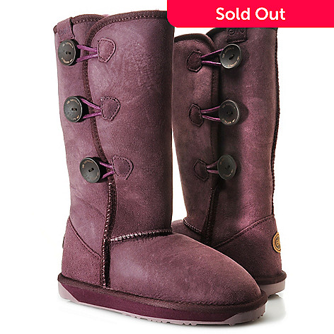 711-946 - EMU ''Coombell'' Sheepskin Side Button Convertible Mid-Calf Boots