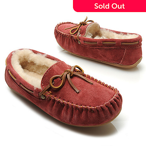 711-947 - EMU® Sheepskin & Suede Leather Moccasin Slippers