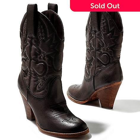711-958 - MIA Faux Leather ''Larah'' Western Style Boots