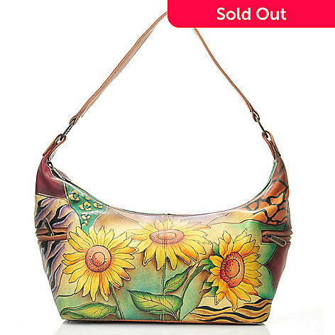 711-989 - Anuschka Hand-Painted Leather East-West Shoulder Bag