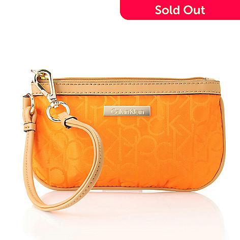712-007 - Calvin Klein Handbags Logo Jacquard Wristlet