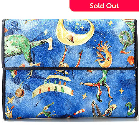 712-073 - Piero Guidi Magic Circus Cherie Collection Tri-Fold Wallet