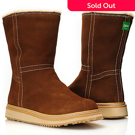 712-110 - Cougar Footwear Suede Leather ''Virgo'' Sherpa Lined Mid-Height Boots