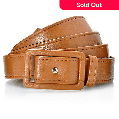 712-124 - Kate & Mallory® Faux Leather Square Buckle Adjustable Belt
