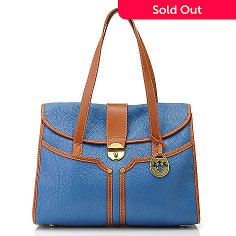 712-134 - PRIX DE DRESSAGE Leather Double Handle Satchel
