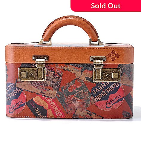 712-152 - Patricia Nash Leather ''Paradiso'' Vintage-Style Vanity Case w/ Lock & Key