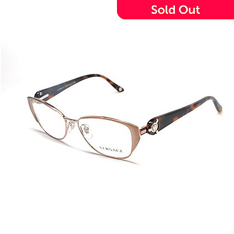 712-264 - Versace Unisex Rose Gold Designer Fashion Eyeglasses