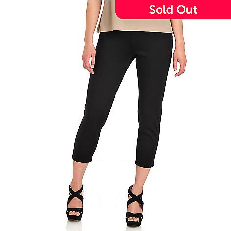 712-413 - Kate & Mallory® Stretch Ponte Elastic Waist Slim Leg Capri Pants