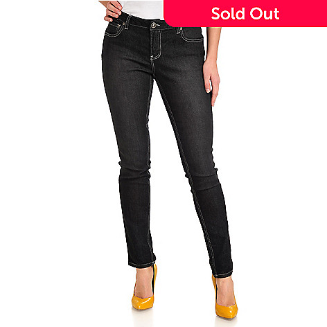 712-439 - OSO Casuals® Stretch Denim Five-Pocket Slim Leg Jeans