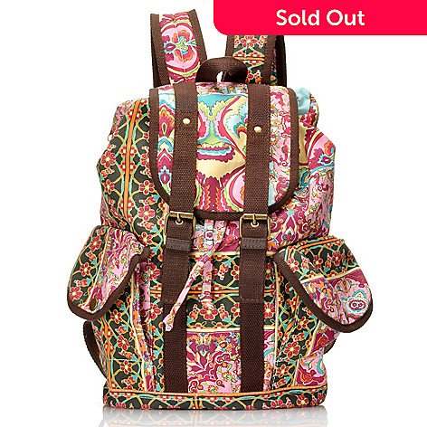 712-443 - One World Cotton Double Buckle Side Zip Backpack