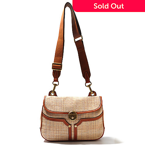 712-447 - PRIX DE DRESSAGE Raffia Flap Over Messenger Bag