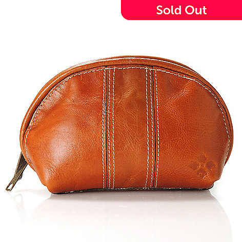 712-551 - Patricia Nash Leather Zip Around Cosmetic Case