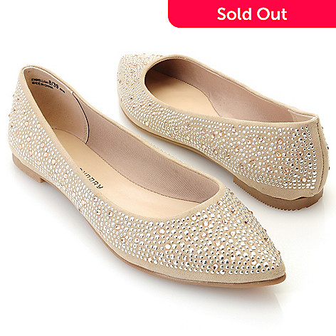 712-567 - Chinese Laundry ''Embellish'' Rhinestone & Stud Detailed Ballet Flats