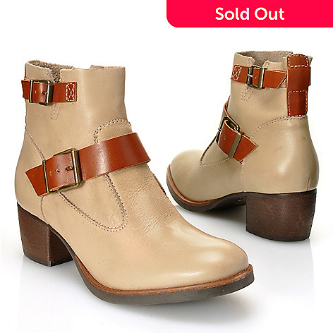712-591 - Matisse® Leather ''Hopper'' Double Buckle Short Boots