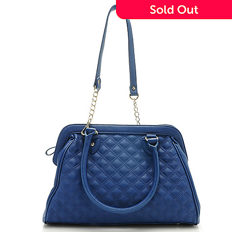 712-645 - Carlos by Carlos Santana ''Laura'' Quilted Frame Satchel w/ Shoulder Strap