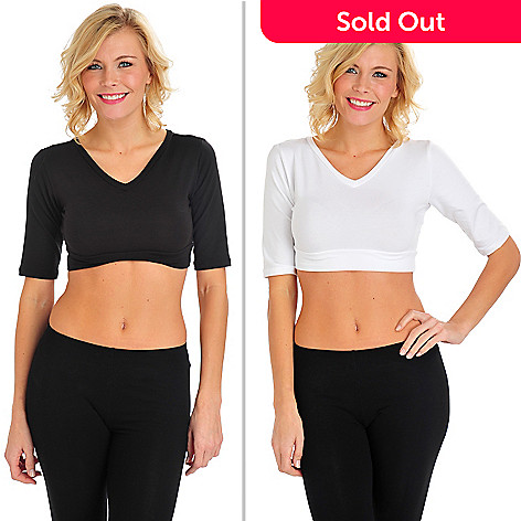 712-659 - Halftee™ Set of Two Scoop/V-Neck Reversible Layering Tops