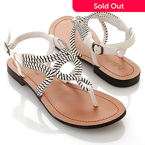 712-745 - MIA ''Emeline'' Twist Detailed Thong Sandals