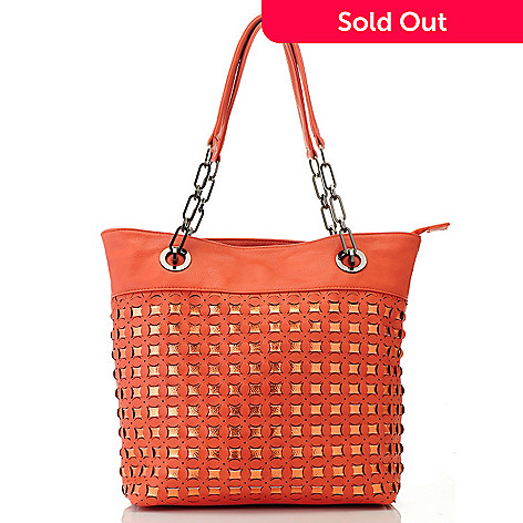 712-752 - LaTique ''Ibiza'' Chain Detailed Double Handle Tote Bag