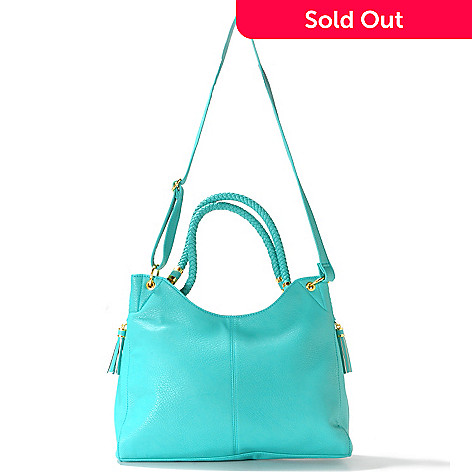 712-753 - LaTique ''Mallorca'' Tasseled Tote Bag w/ Shoulder Strap