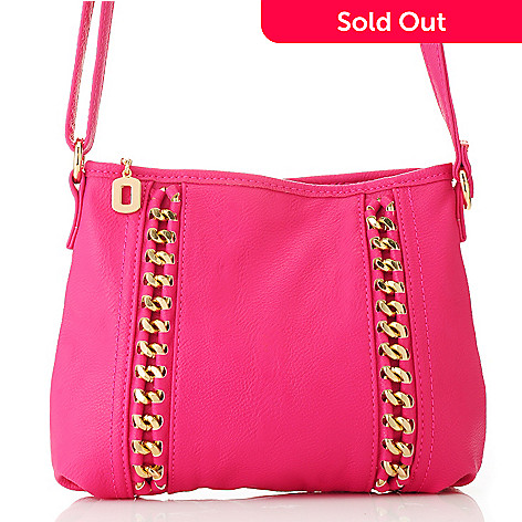 712-757 - LaTique Zip Top Chain Detailed Cross Body Bag