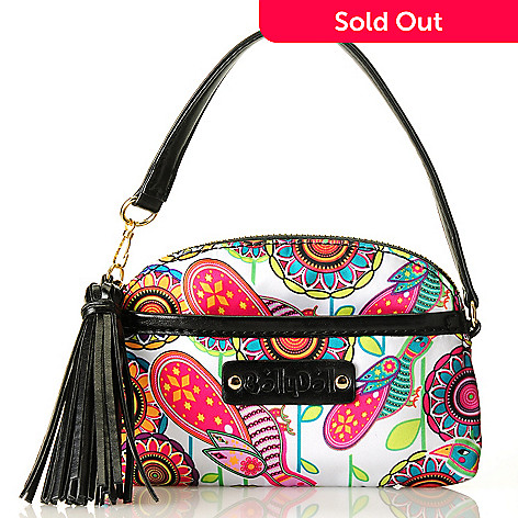 712-771 - BollyDoll Printed Zip Top Tasseled Wristlet