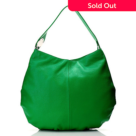 712-850 - Bodhi Leather ''Candy'' Zip Top Slouchy Hobo Handbag