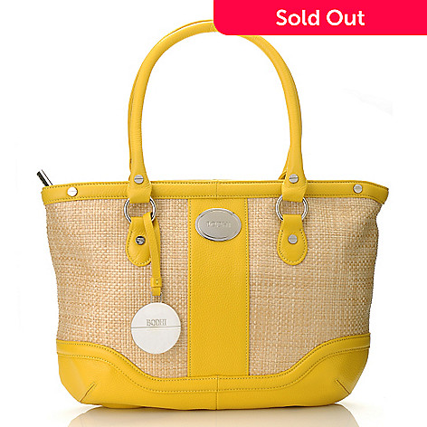 712-853 - Bodhi Coated Straw ''Candy'' Double Handle Satchel