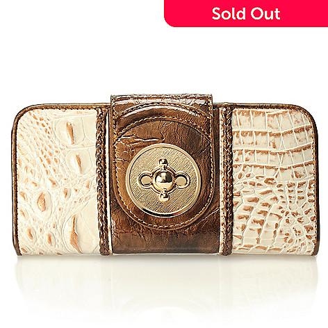 712-870 - Madi Claire Croco Embossed Leather ''Estelle'' Wallet